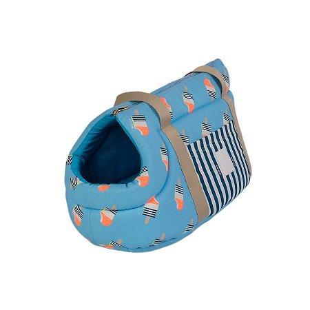 Bolsa de Passeio para Cachorro Woof Classic Ice Land Azul