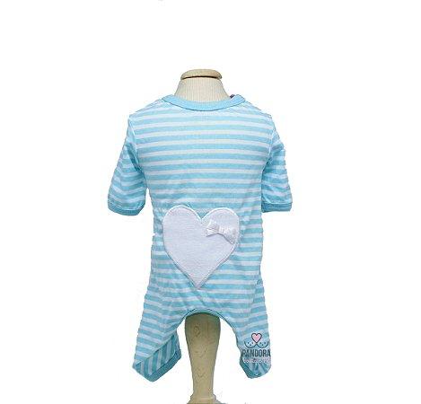 Pijama para Cachorro Oh My Dog Coração Tiffany
