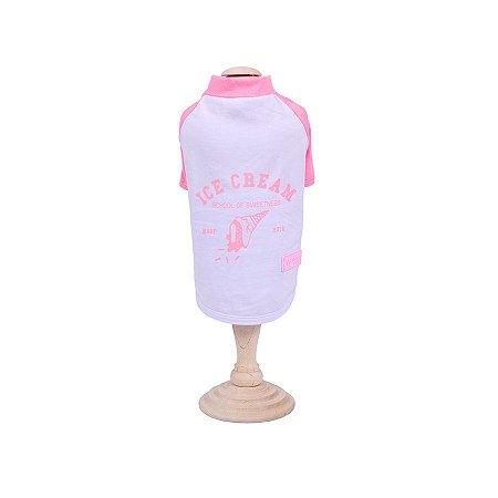 T-Shirt para Cachorro Woof Classic Ice Land Ice Cream Rosa 10