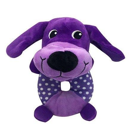 Brinquedo Akio Pelúcia com Squeaker Cachorro com o Corpo Redondo