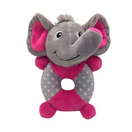 Brinquedo Akio Pelúcia com Squeaker Elefante com o Corpo Redondo
