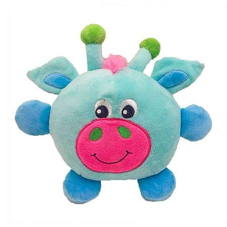 Brinquedo Akio Pelúcia com Squeaker Girafa Azul