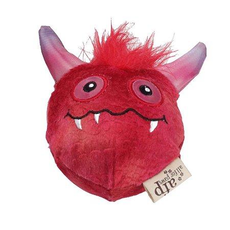 Brinquedo AFP Monster Ball Pelúcia Vermelho para Cachorro