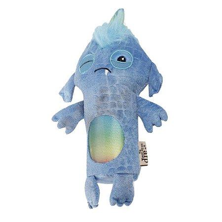 Brinquedo AFP Monster Stick Pelúcia Azul para Cachorro