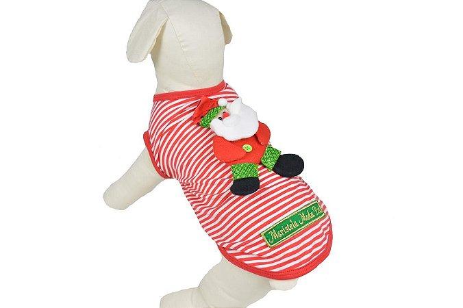 T-Shirt de Natal para Cachorro e Gato Maristela Moda Pet