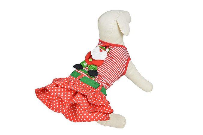Vestido de Natal para Cachorro e Gato Maristela Moda Pet