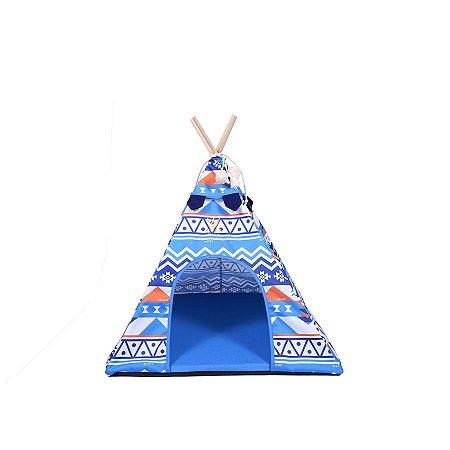Cabana para Cachorro Woof Classic Apache LLama Etnico Azul