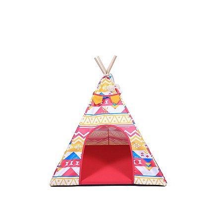 Cabana para Cachorro Woof Classic Apache LLama Etnico Pink
