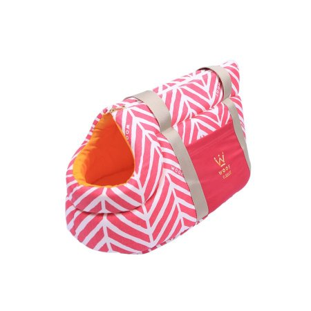 Bolsa de Passeio para Cachorro Woof Classic LLama Pink
