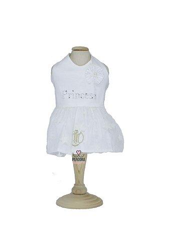 Vestido para Cachorro Maristela Moda Pet White Princess