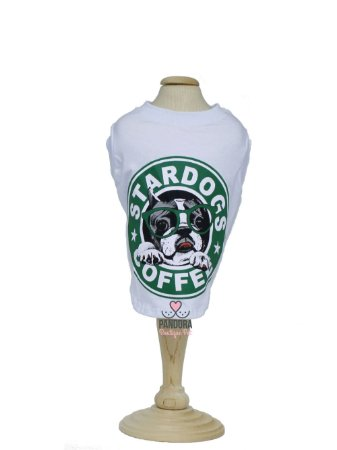 T-Shirt Star Dogs Coffee Malloo Moda Pet