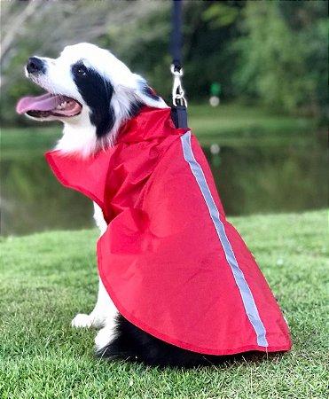 Capa de Chuva para Cachorro Malloo Vermelha