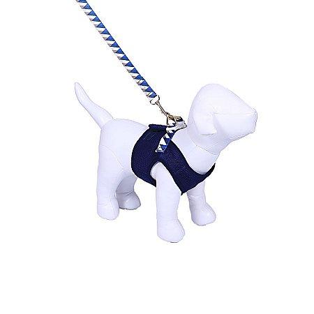 Peitoral Colete Aerado Woof Pet Azul Marinho