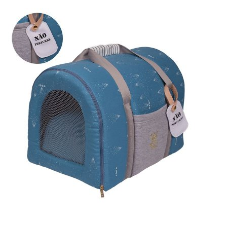Bolsa de Transporte Pet Woof Classic Magic Land Azul