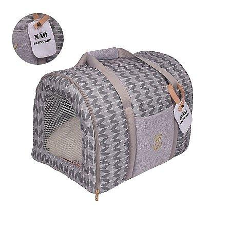 Bolsa de Transporte Pet Woof Classic Magic Land Cinza
