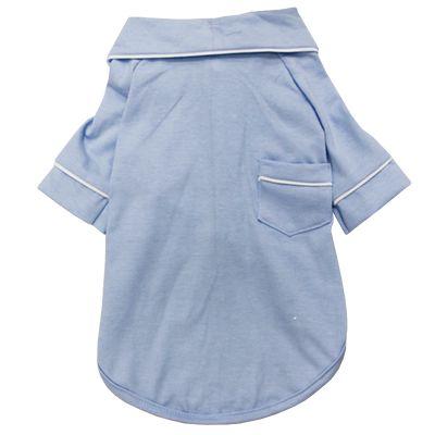 Pijama Camisa para Cachorro e Gato Azul