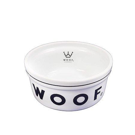 Comedouro para Cachorro em Porcelana Woof Classic Preto