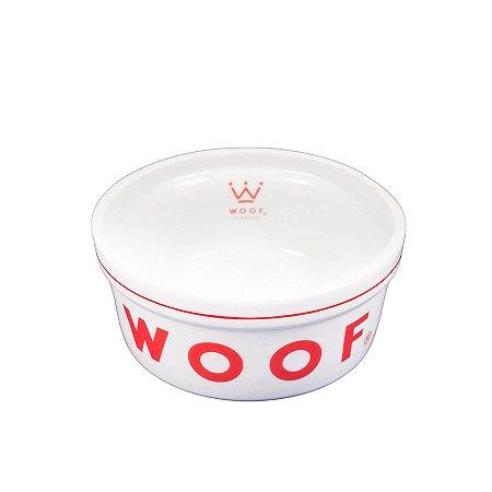 Comedouro para Cachorro em Porcelana Woof Classic Vermelho