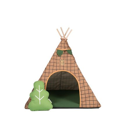 Cabana para Cachorro Woof Classic Apache Forest Bege
