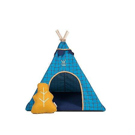 Cabana para Cachorro Woof Classic Apache Forest Azul