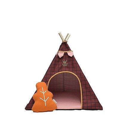 Cabana para Cachorro Woof Classic Apache Forest Marsala