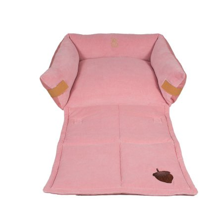 Cama para Cachorro Woof Classic Couche Forest Rosa