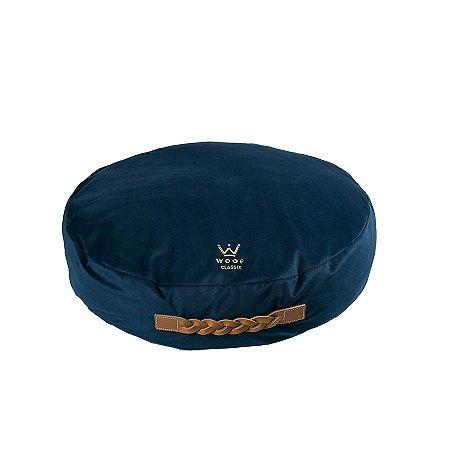 Almofadão para Cachorro Woof Classic Forest Veludo Azul Marinho