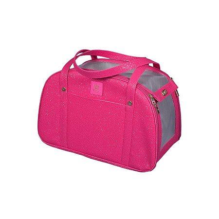 Bolsa de Transporte para Cachorro e Gato Woof Classic Glitter Pink