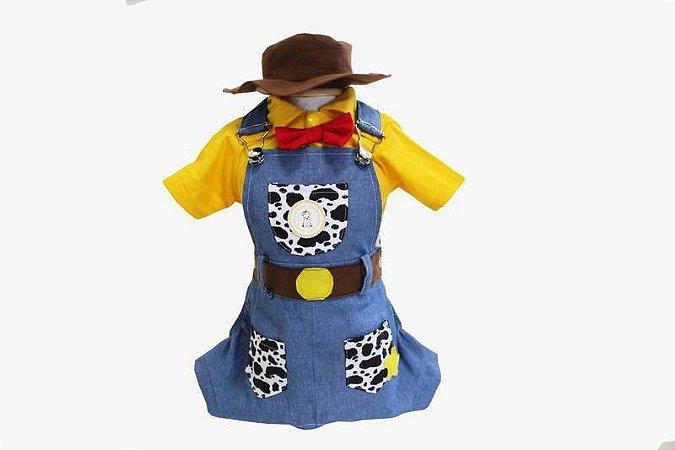 Jardineira para Cachorro Woody Toy Story
