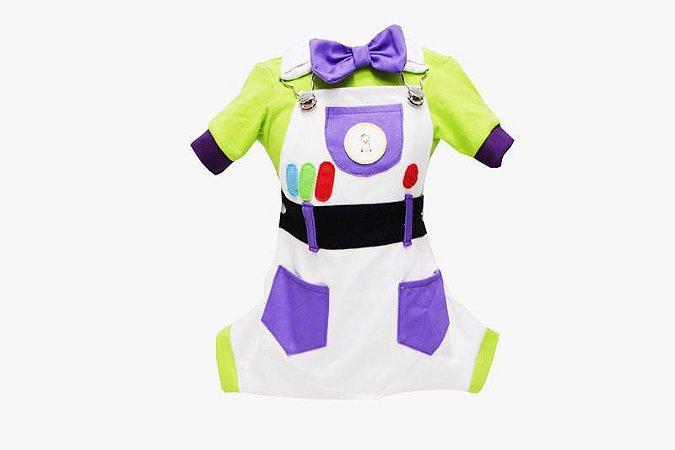 Jardineira para Cachorro Buzz Lightyear Toy Story