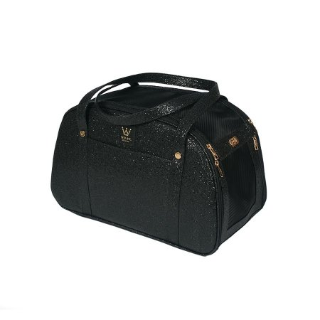Bolsa de Transporte para Cachorro e Gato Woof Classic Glitter Black