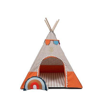 Cabana para Cachorro Woof Classic Apache Sweet Dreams Laranja