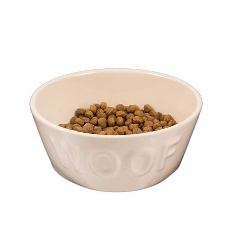 Comedouro para Cachorro em Cerâmica Woof Classic Off White