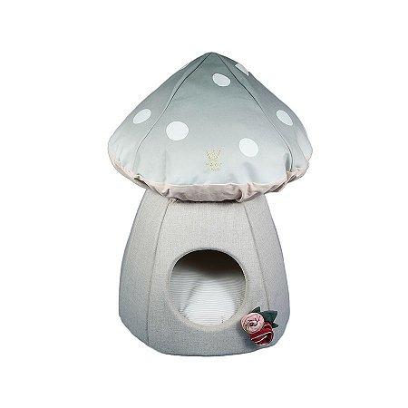 Toca para Cachorro Woof Classic Cogumelo Verde Pastel