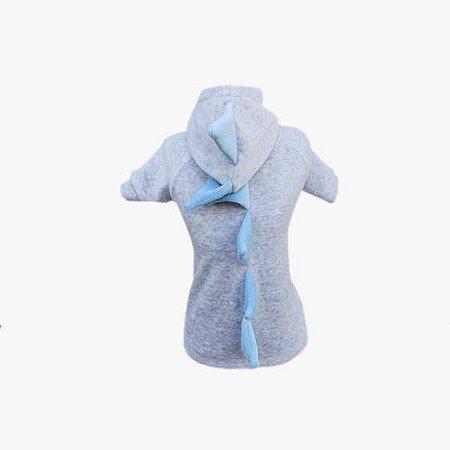 Casaco Plush para Cachorro Dino Azul