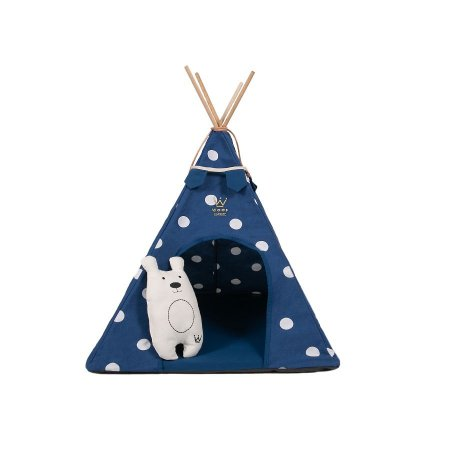 Cabana para Cachorro Woof Classic Apache Poa Azul