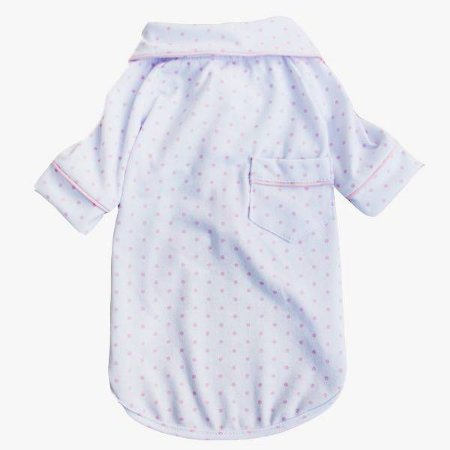Pijama Camisa para Cachorro e Gato Poa Rosa