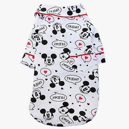 Pijama Camisa para Cachorro e Gato Mickey Friday