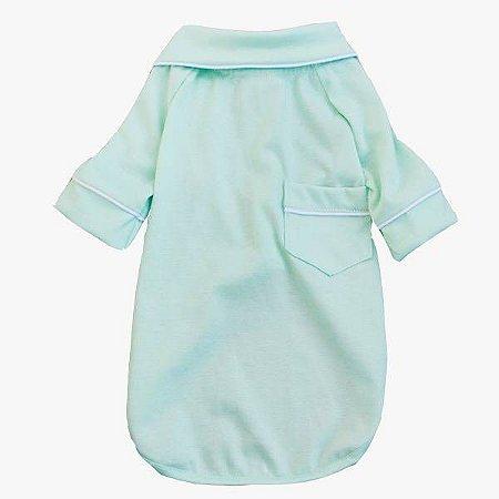Pijama Camisa para Cachorro e Gato Verde