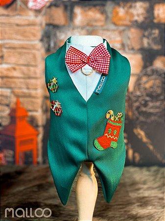 Camisa para Cachorro Malloo Natal Presente Verde