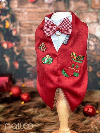 Camisa para Cachorro Malloo Natal Presente Vermelho