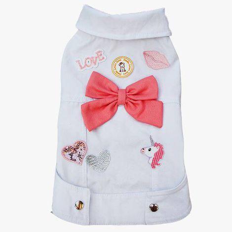 Jaqueta Jeans para Cachorro Off White Simba