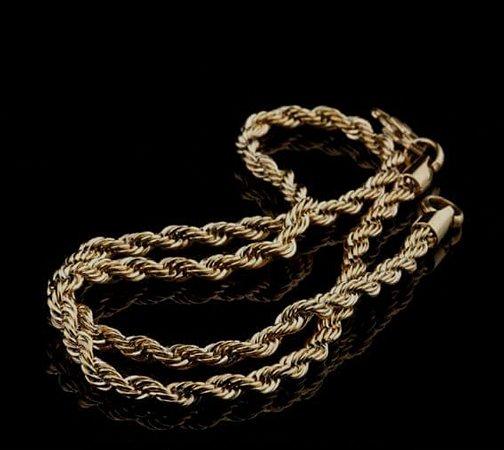 Cordão Baiano Gold(ip) 60cm E 5,4mm - Joia Aço Antialérgico