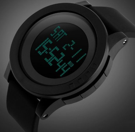 Relógio Estilo Militar em silicone à prova d' água led digital
