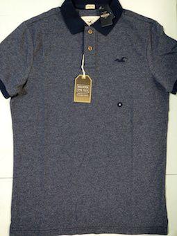 Camiseta Polo Manga Curta Hollister Masculina (L)