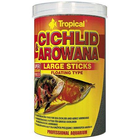 Ração Tropical Cichlid e Arowana Large Sticks 300g