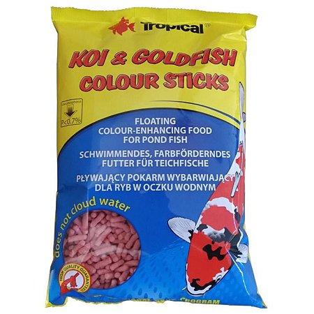 Ração Tropical Koi e Goldfish Colour Sticks 90g