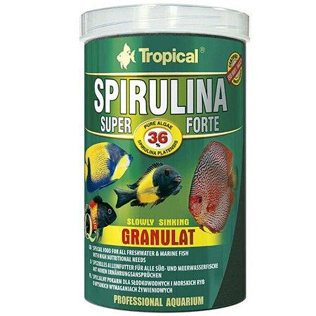 Ração Tropical Spirulina Super Forte Granulat 60g
