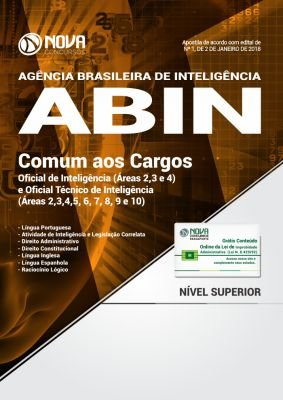 Apostila ABIN 2018 - Comum aos Cargos de Oficial e Técnico de Inteligência