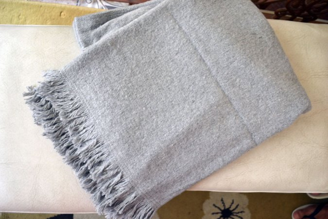 Manta de Sofá em Lã - Xale artesanal - Cama, sofá, bebê